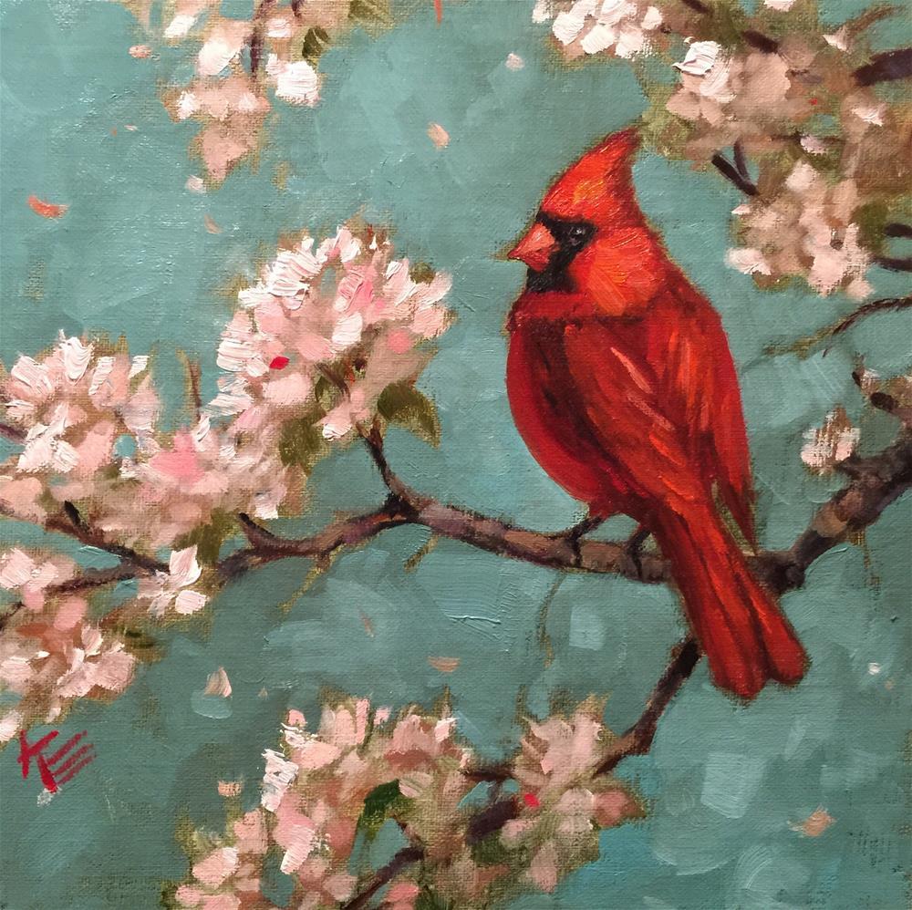 """Spring Song"" original fine art by Krista Eaton"