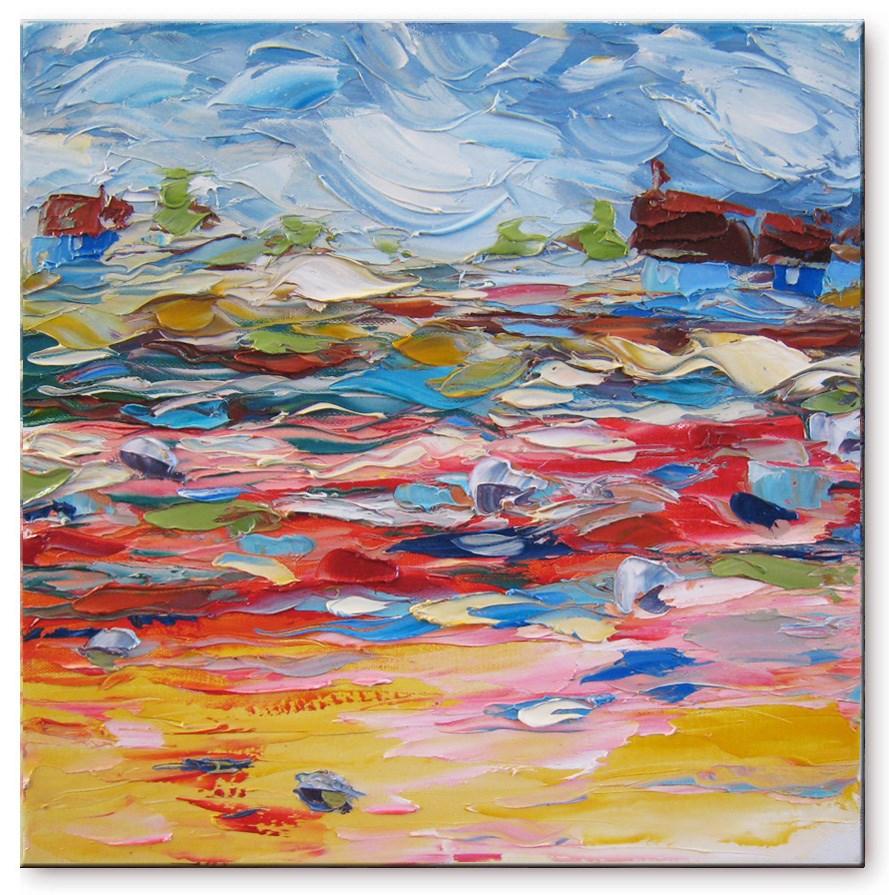 """Walking with the wind"" original fine art by Elena Lunetskaya"