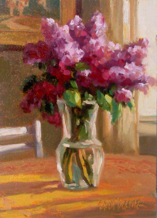 """Luscious Lilacs"" original fine art by Erin Dertner"