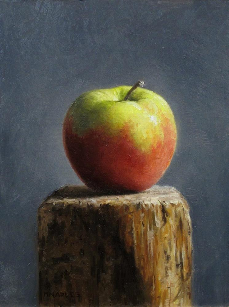 """Apple Pedestal"" original fine art by Michael Naples"