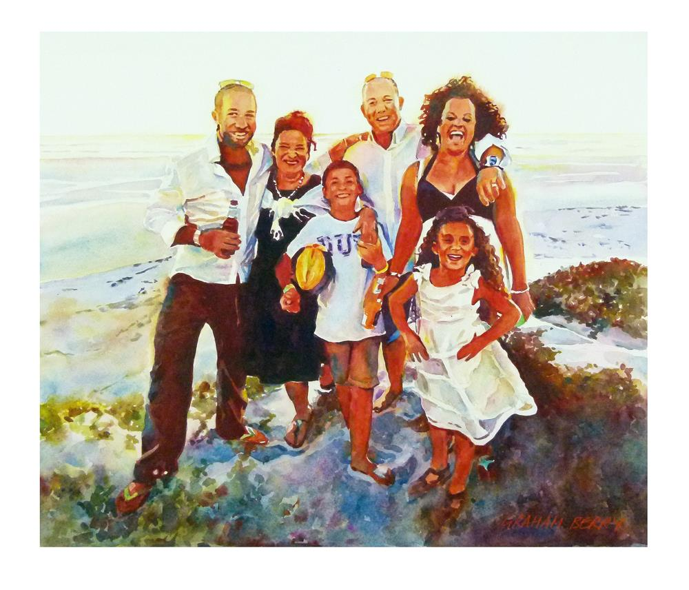 """Kerry and family"" original fine art by Graham Berry"