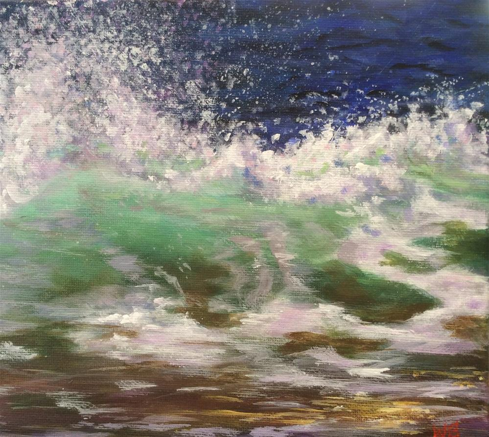 """Surfs Up"" original fine art by wendy black"