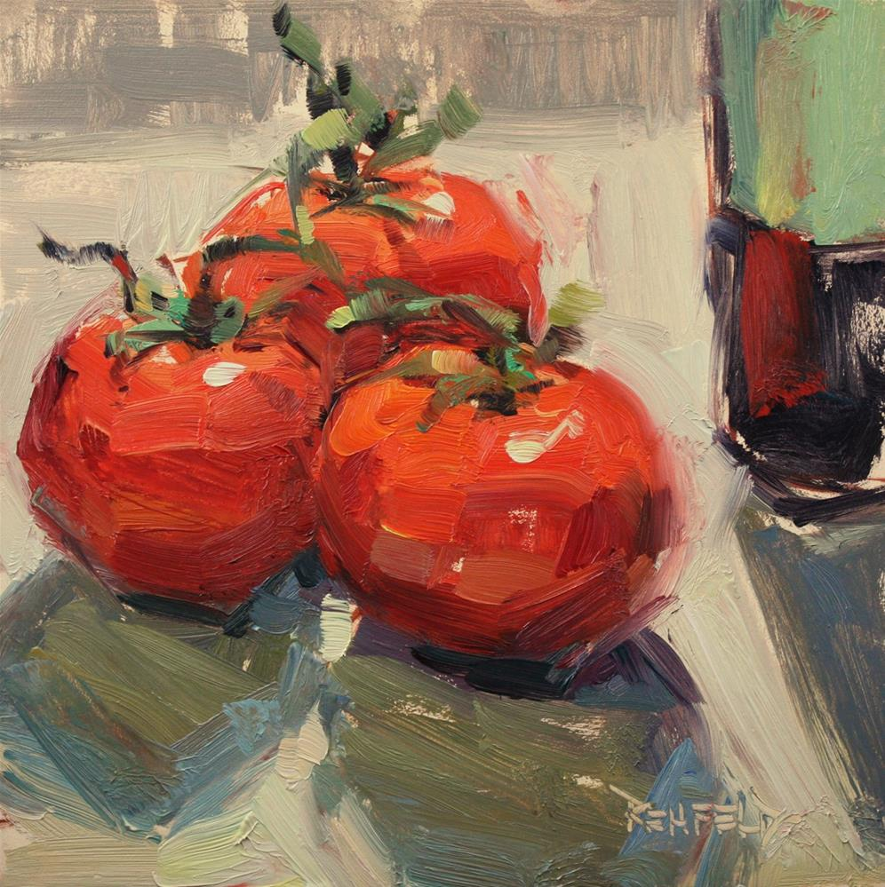"""Tomatoes and Balsamic Vinegar"" original fine art by Cathleen Rehfeld"
