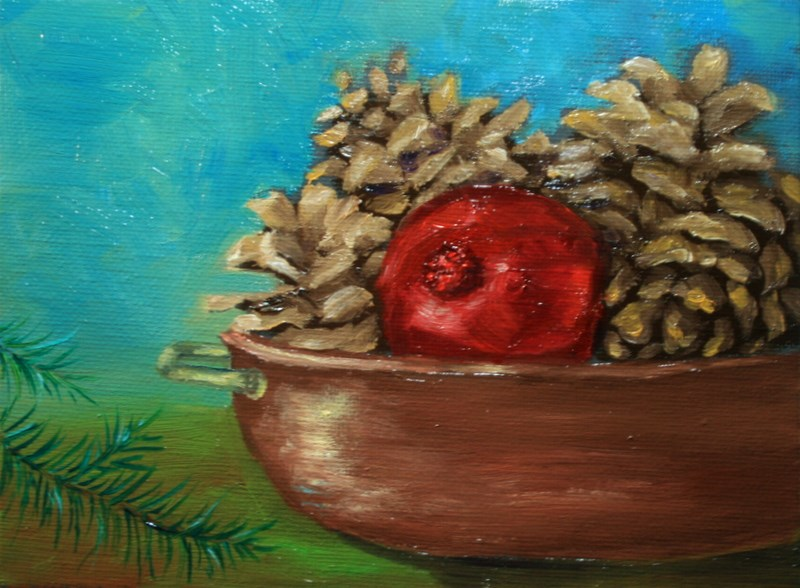 """Copper Bowl"" original fine art by Jean Nelson"