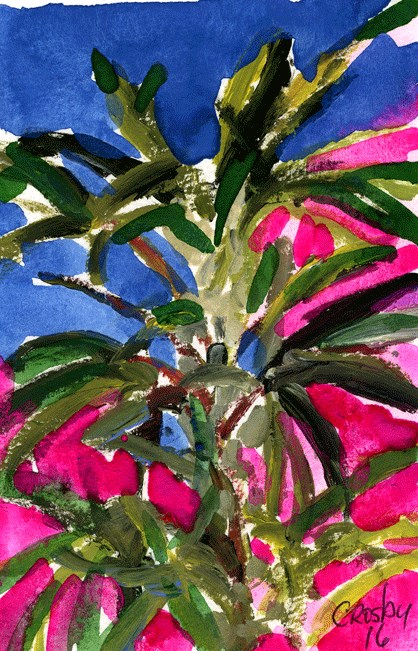 """Plant From Below"" original fine art by Donna Crosby"