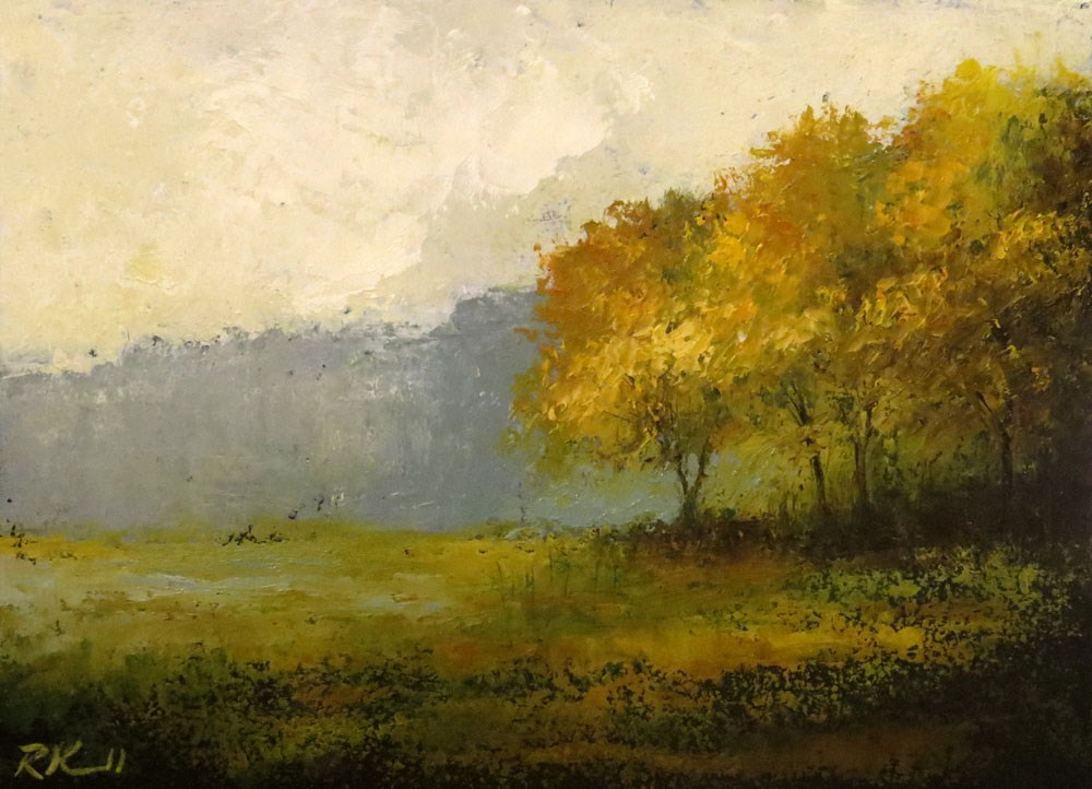 """The Edge of the Woods"" original fine art by Bob Kimball"