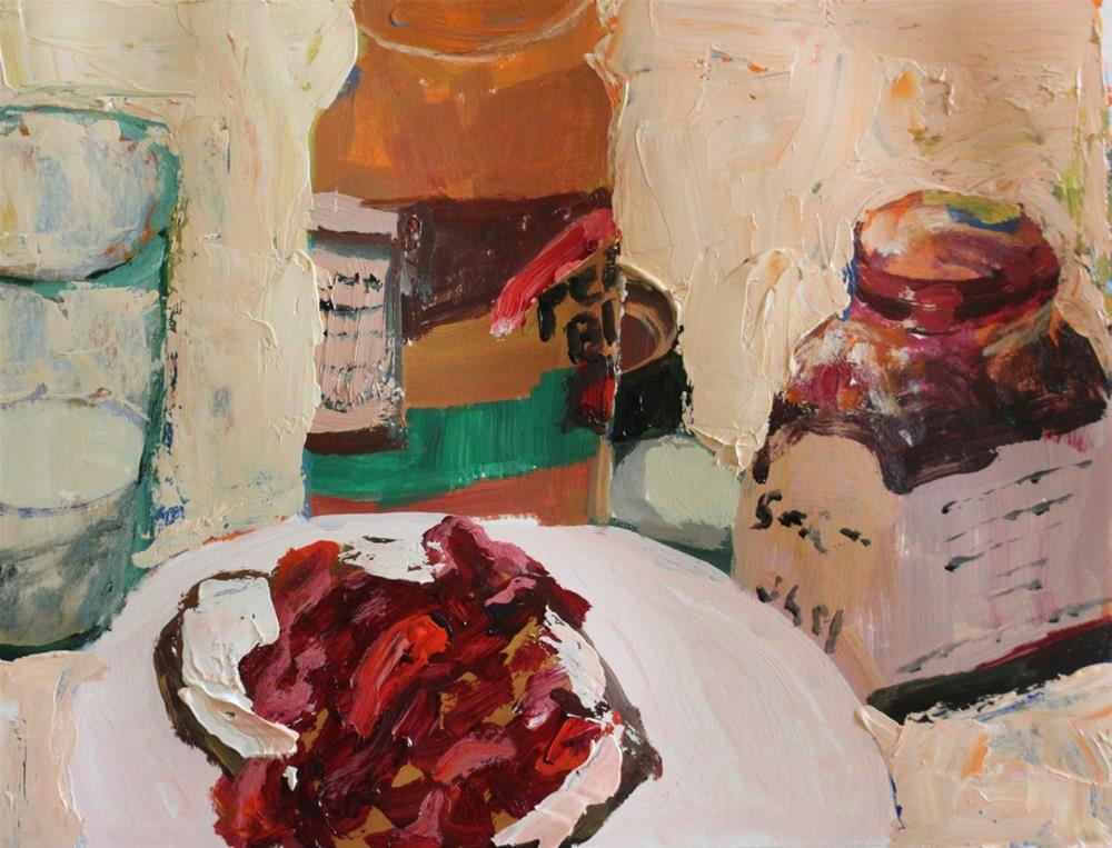 """Still Life with Peanut Butter and Jelly"" original fine art by Christine Parker"