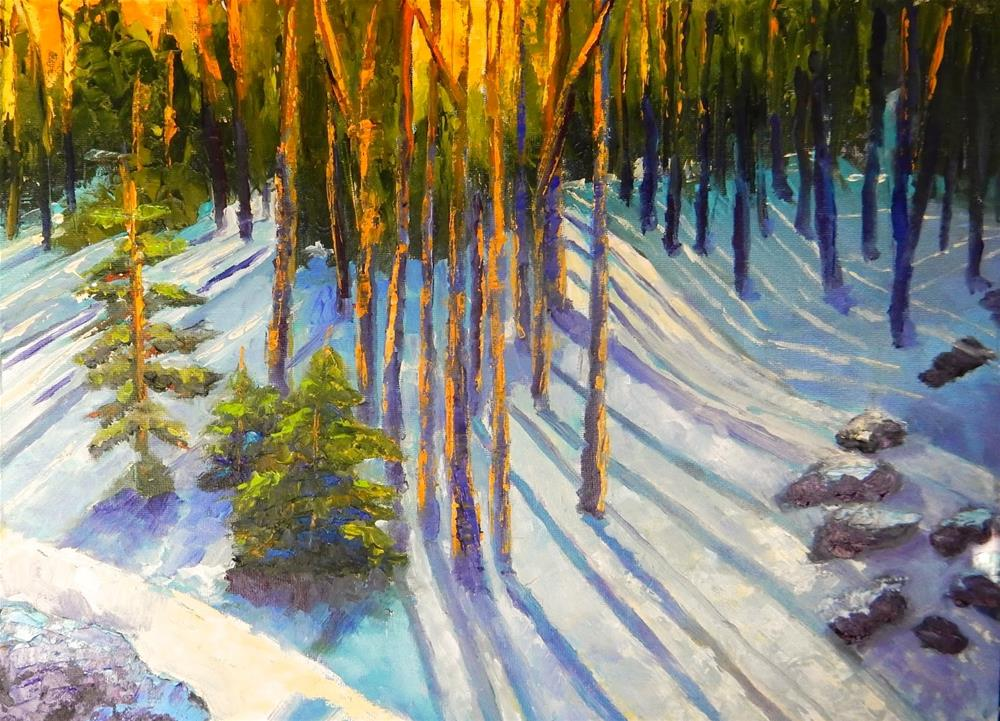 """Rocky Mountain Sunset"" original fine art by Phyllis Davis"