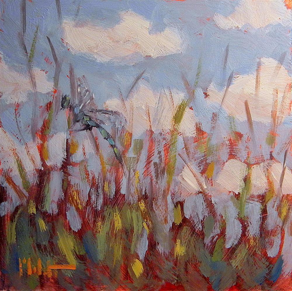 """Dragonfly Garden Jewel Art"" original fine art by Heidi Malott"