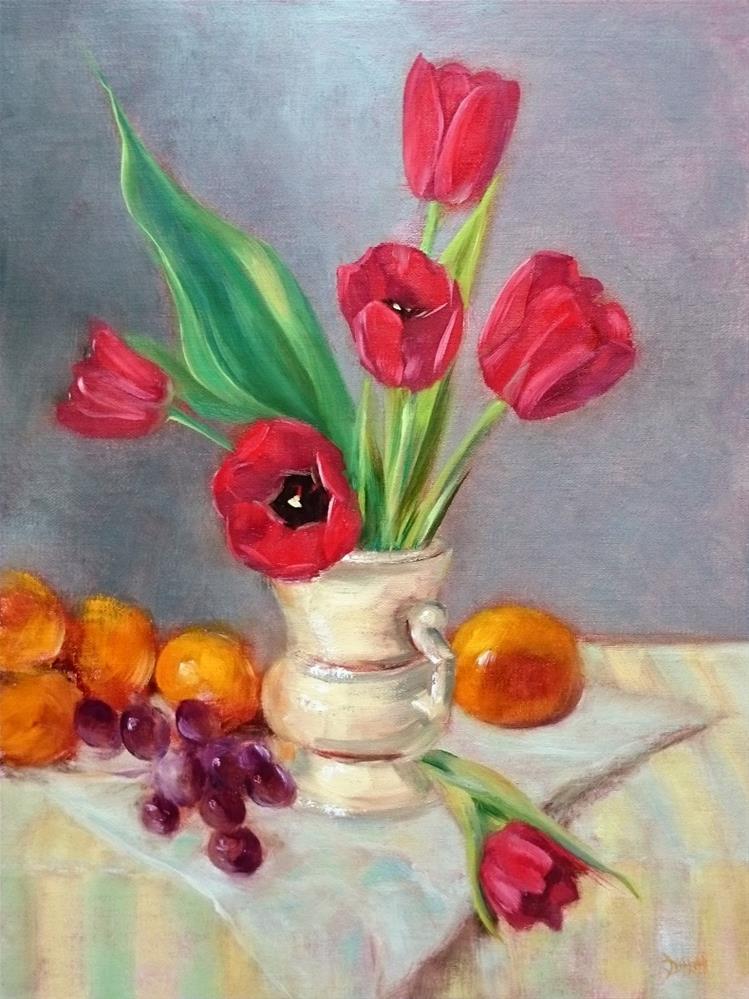 """Red Tulips"" original fine art by Dalan Wells"