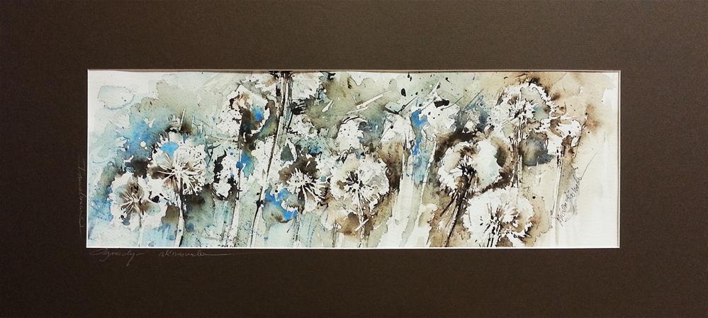 """Dandelion 4"" original fine art by Marlena Czajkowska"