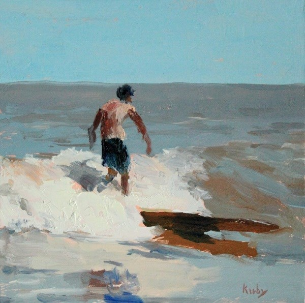 """Jetty Break"" original fine art by Randall Cogburn"