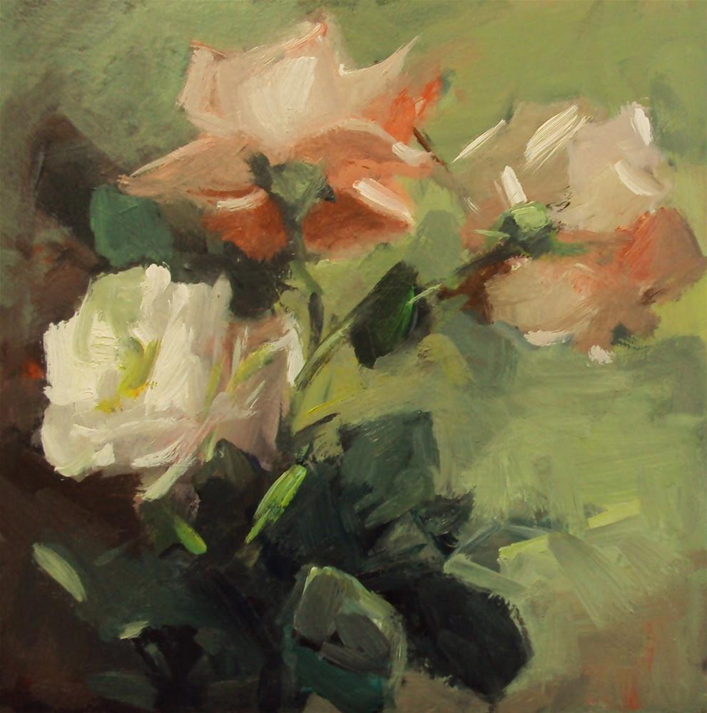"""""""garden in blossom"""" original fine art by Parastoo Ganjei"""