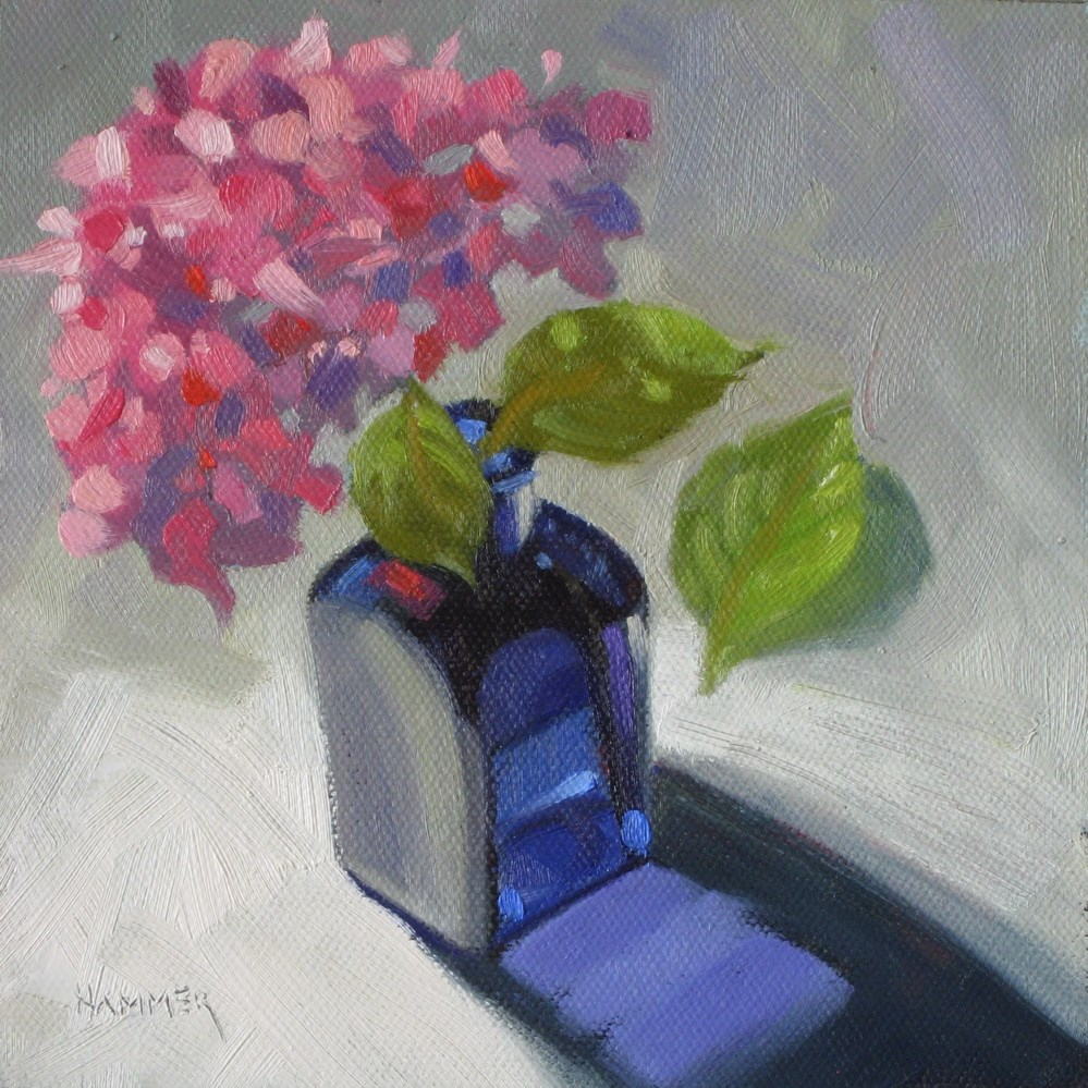 """Pinky 6x6 oil"" original fine art by Claudia Hammer"