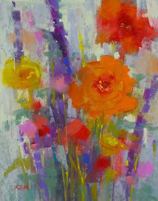 """How Often Should You Take an Art Workshop...Flower Bouquet"" original fine art by Karen Margulis"