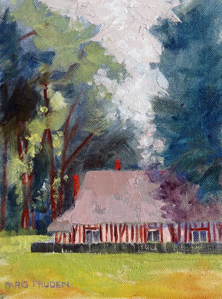 """Normandy Half-timber House"" original fine art by Nancy Paris Pruden"