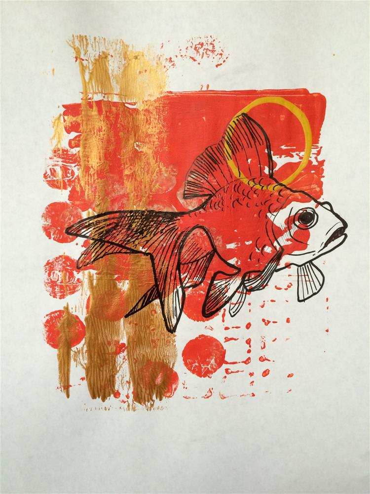 """Goldfish Print"" original fine art by Teddi Parker"