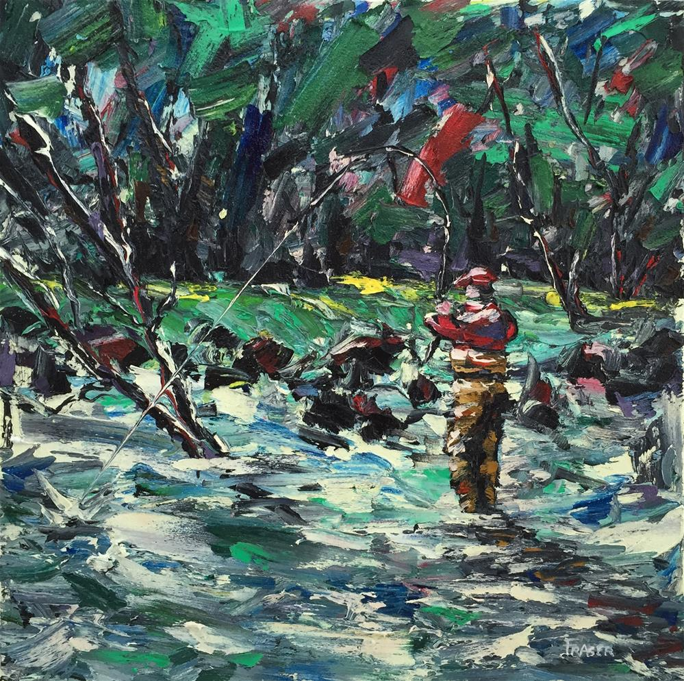 """Fish On!"" original fine art by Ken Fraser"