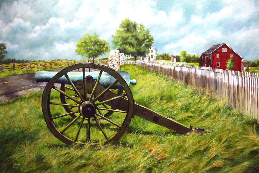 """The Klingle Farm"" original fine art by Aaron Grabiak"