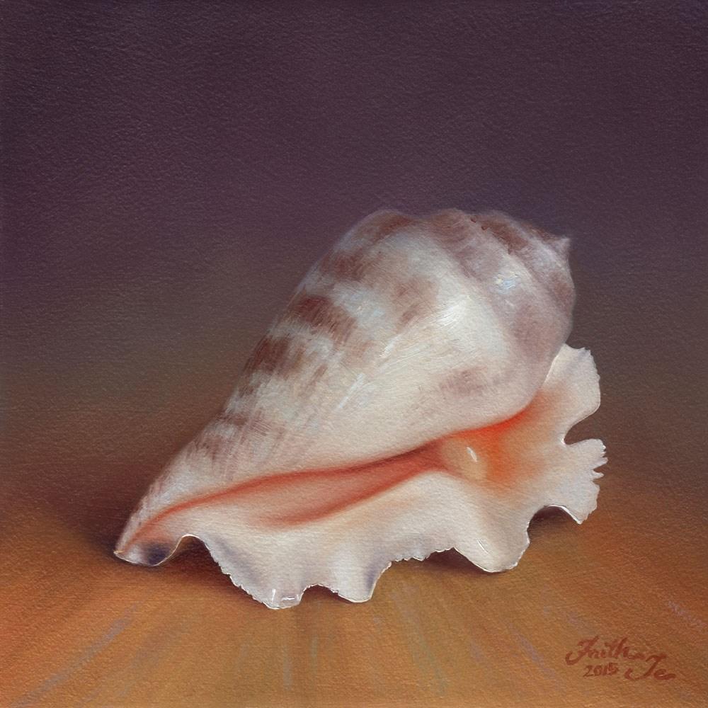 """""""Conch Shell No. 2"""" original fine art by Faith Te"""
