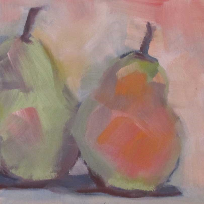 """High Key Pears"" original fine art by Helen Moreda"
