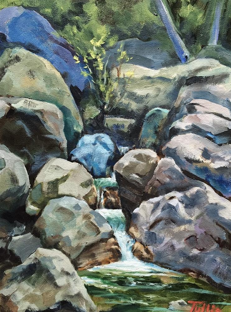 """Little Yosemite Falls, Sunol Regional Park"" original fine art by John Tullis"