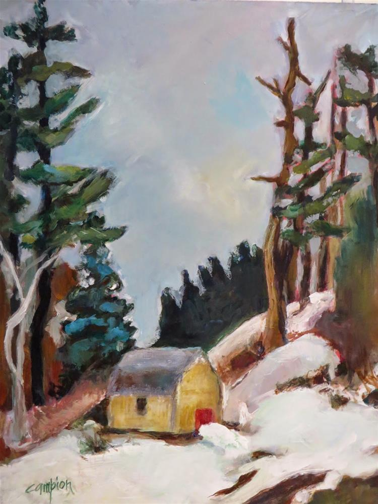 """585   Back Road, Plymouth, Massachusetts"" original fine art by Diane Campion"