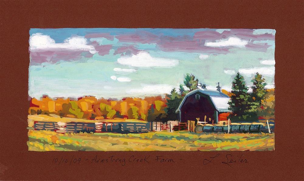 """Armstrong Creek Farm"" original fine art by Larry Seiler"