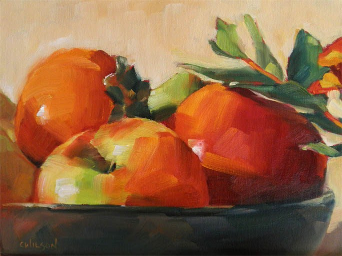 """Bowl of Red Fruit"" original fine art by Cheryl Wilson"