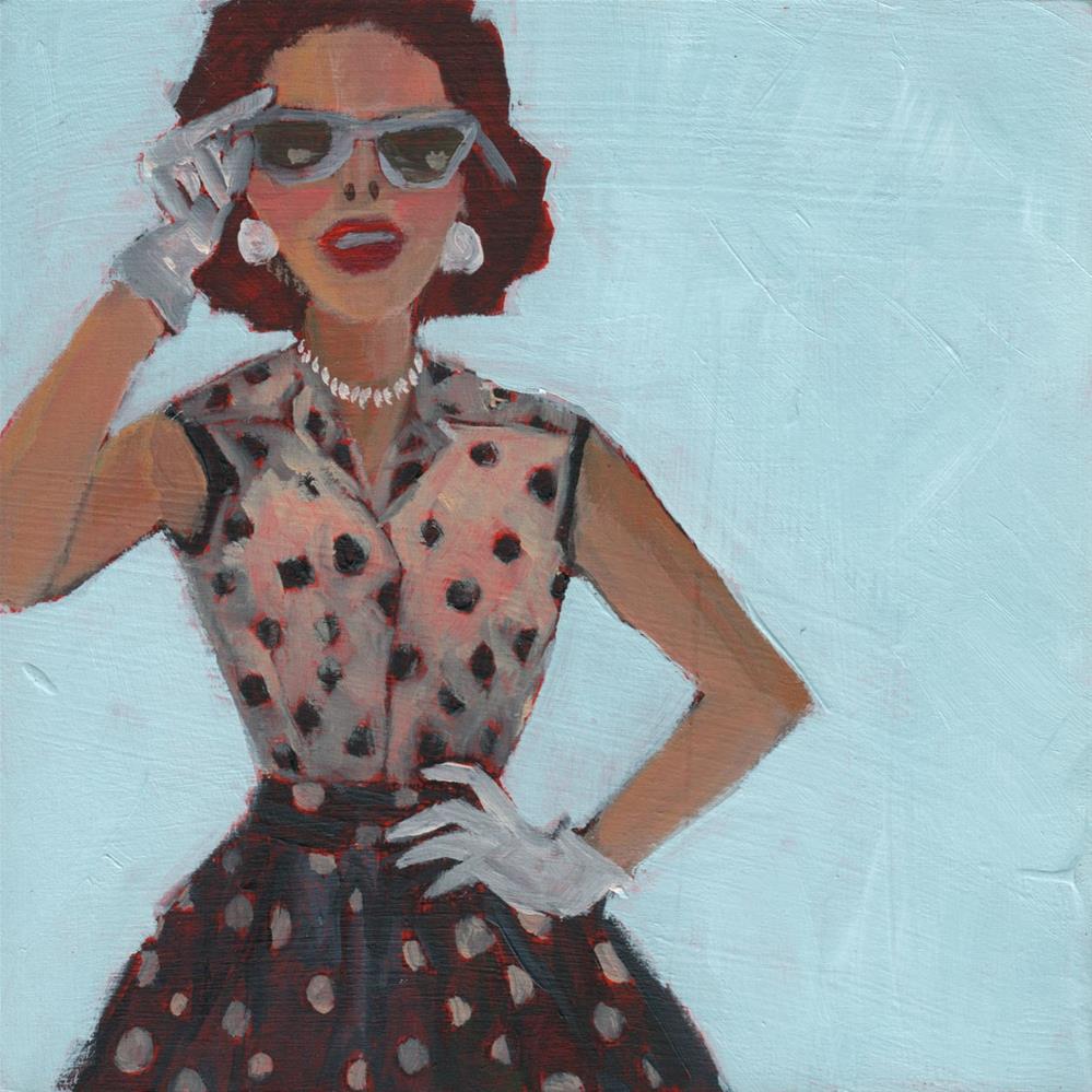 """""""Dottie's Day Out (#406)"""" original fine art by Debbie Miller"""