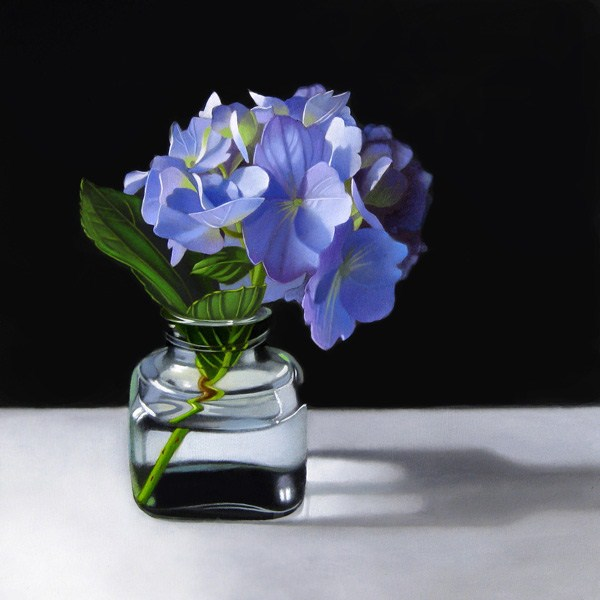 """Hydrangea 8x8"" original fine art by M Collier"