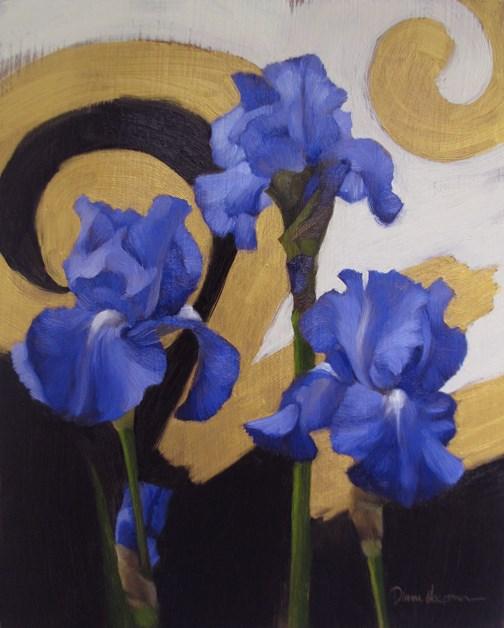 """Modern Iris II"" original fine art by Diane Hoeptner"
