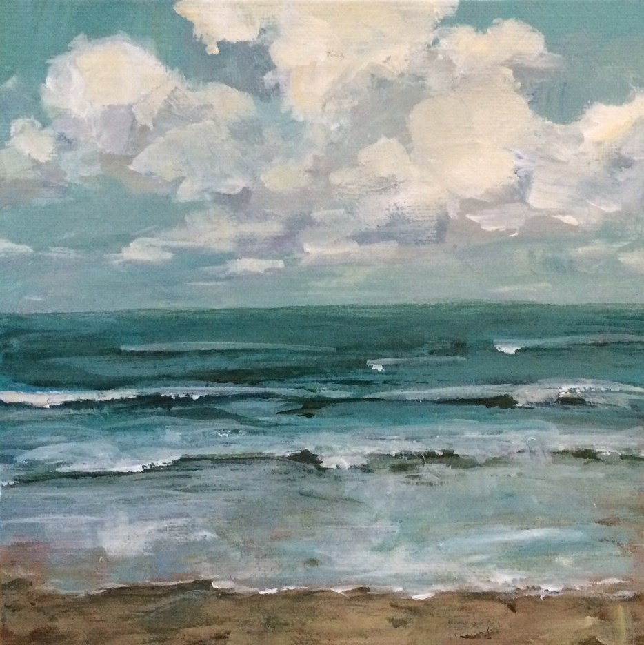 """We Were by the Sea"" original fine art by Shannon Bauer"