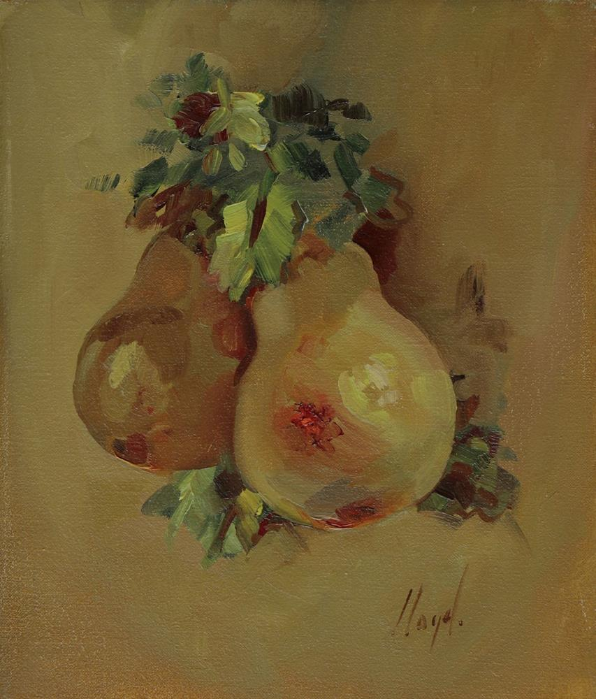 """Christmas Pears"" original fine art by Diane Lloyd"