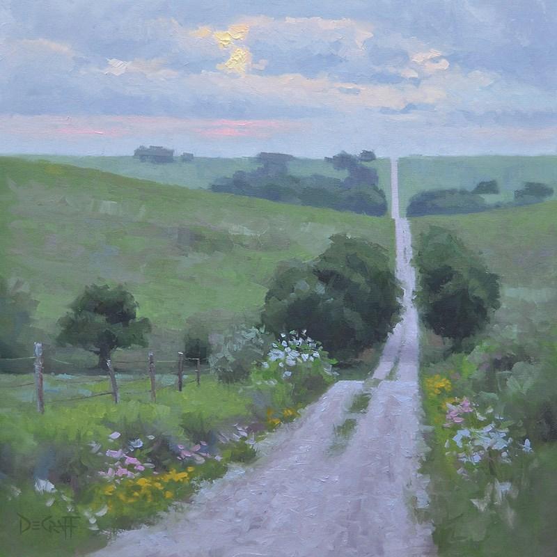 """""""Morning Rush Hour"""" original fine art by Larry DeGraff"""