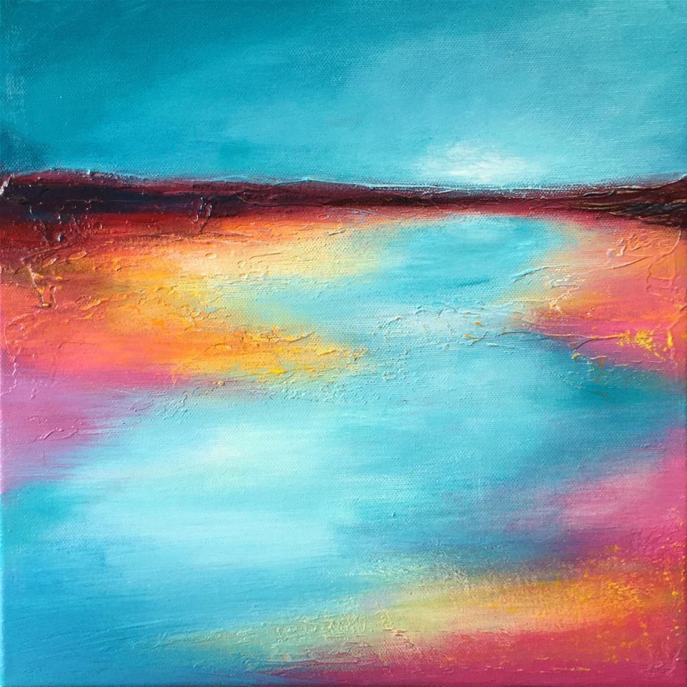 """Pink shore 2"" original fine art by Jane Palmer"