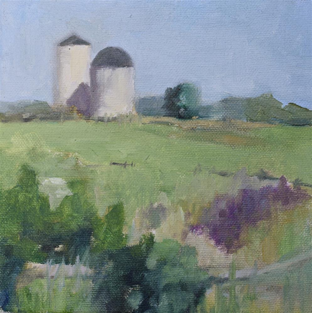 """the hill 2"" original fine art by Theresa Heidig Rooney"