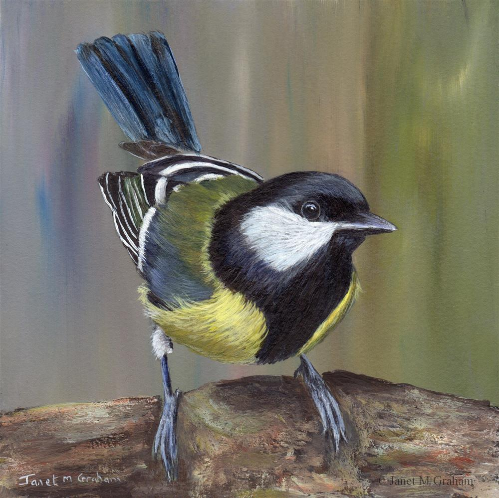 """Great Tit"" original fine art by Janet Graham"