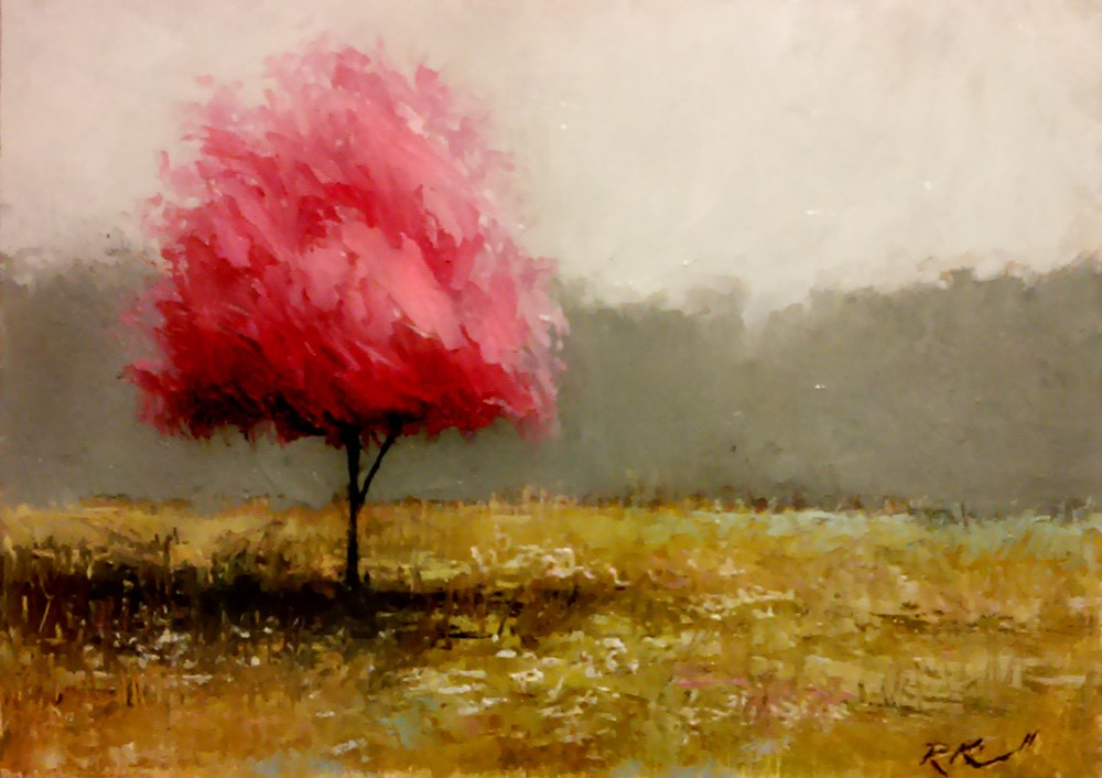 """Cherry Blossom Tree"" original fine art by Bob Kimball"