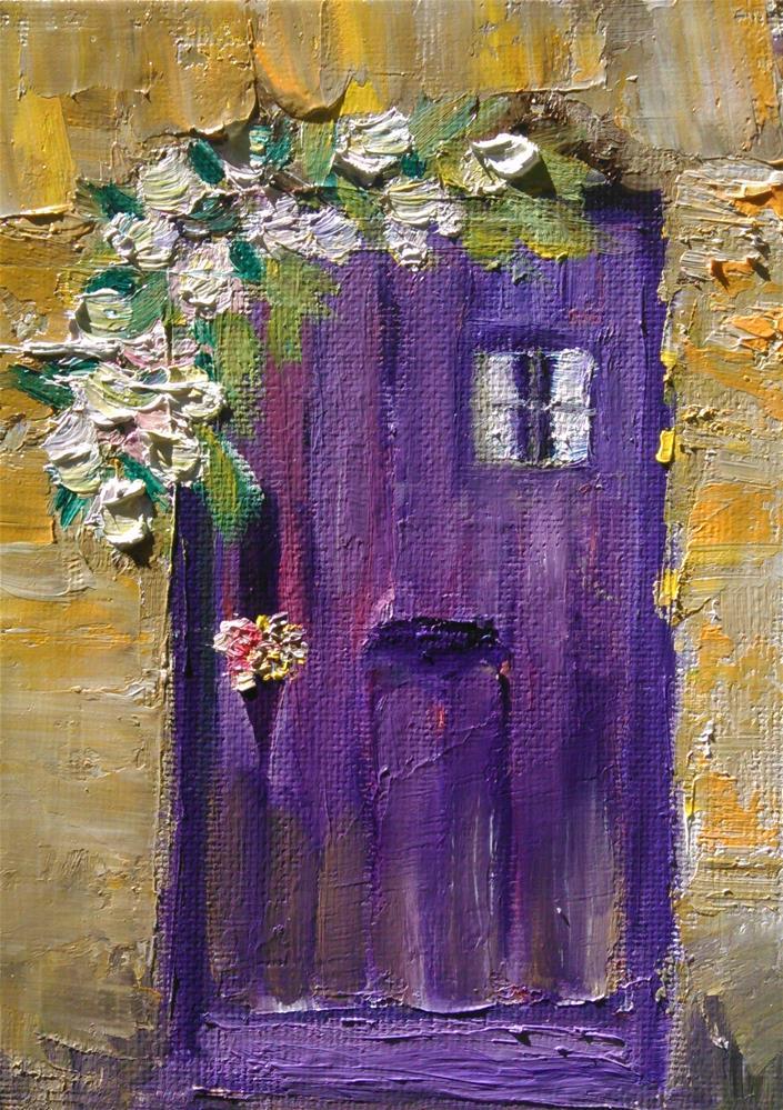 """""""The Purple Door"""" original fine art by Gerri Obrecht"""