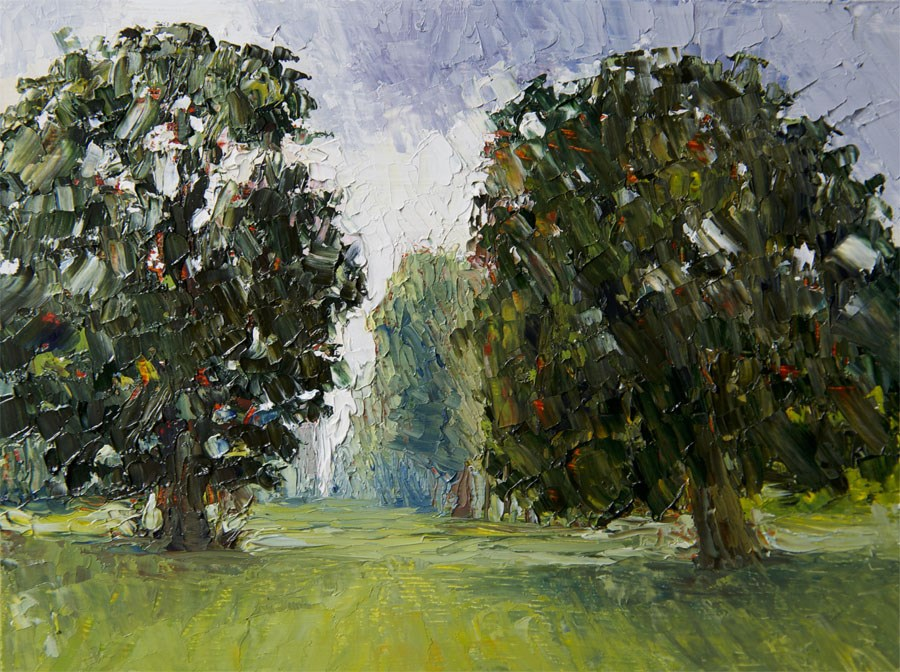 """Kew Trees"" original fine art by Jethro Knight"