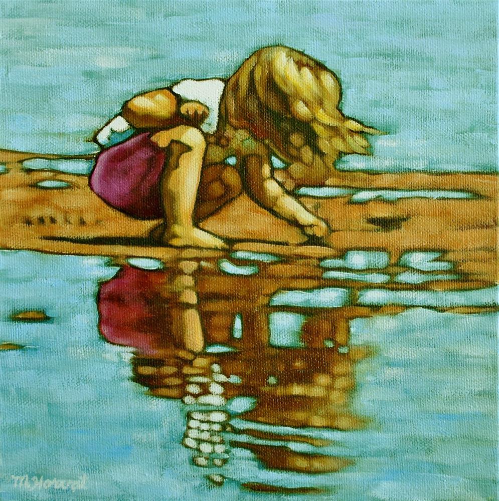 """Beachcomber"" original fine art by Margaret Horvat"