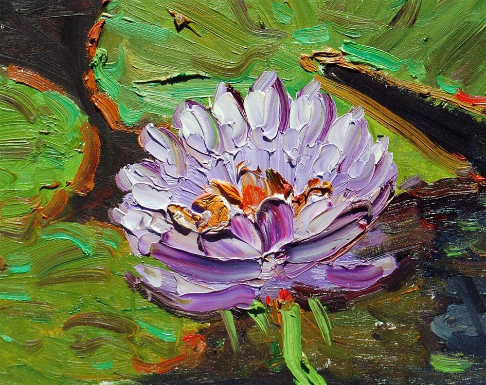"""Water Lilies"" original fine art by Mahin Gholizadeh"