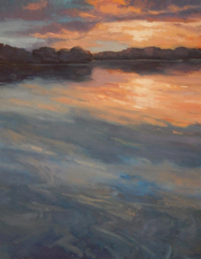 """Watery Sunset"" original fine art by Lisa Kyle"