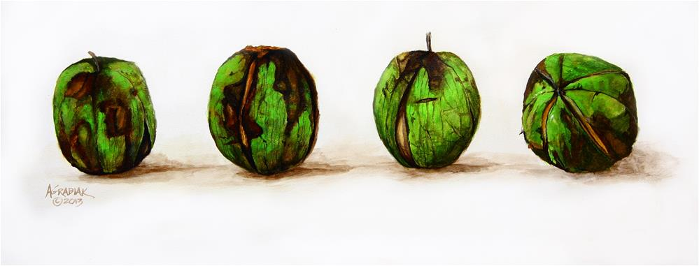 """Walnuts"" original fine art by Aaron Grabiak"