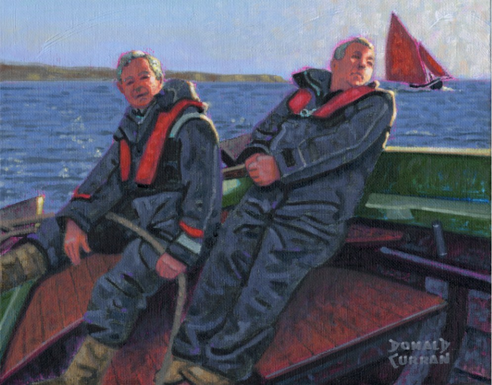 """Irish Sailors"" original fine art by Donald Curran"