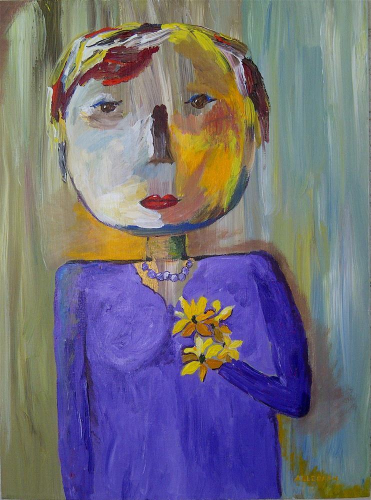 """Marcie's Sister"" original fine art by Jo Allebach"
