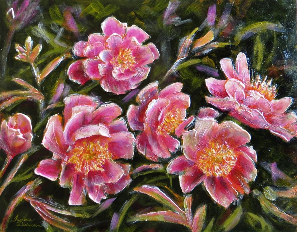 """Sculpted Peonies in Pink"" original fine art by Tammie Dickerson"
