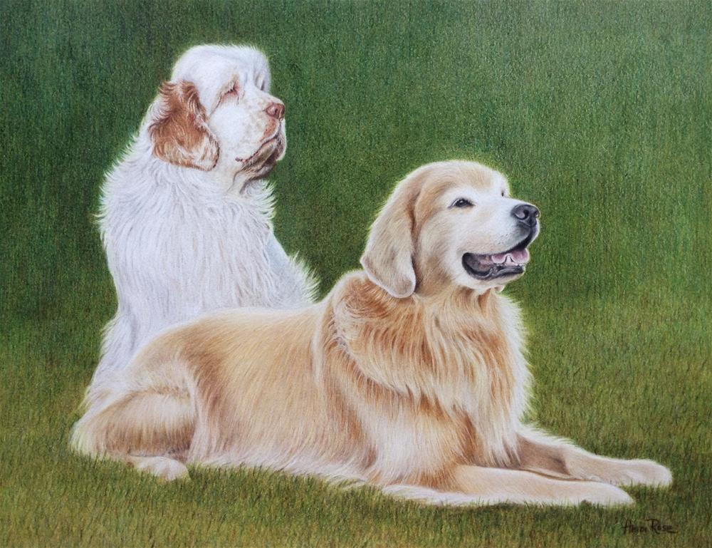 """Avery and Ryder"" original fine art by Heidi Rose"