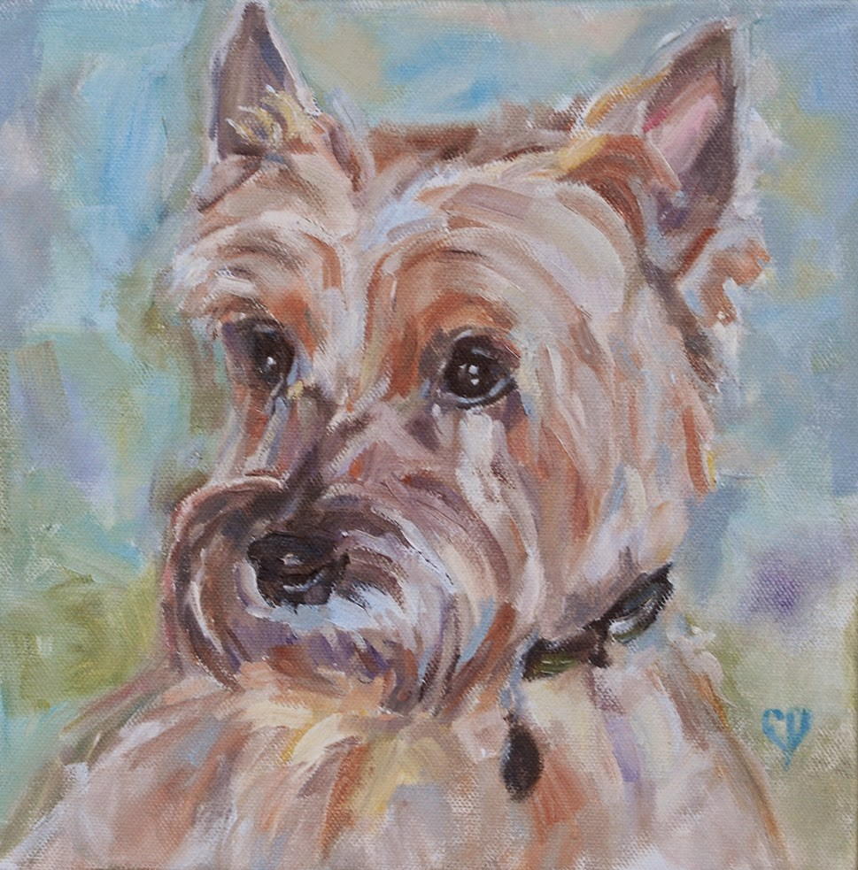 """Cairn Terrier, Original Oil by Carol DeMumbrum"" original fine art by Carol DeMumbrum"
